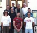 Linda Hodapp, Martin Gebhardt, Oliver Neudecker, Bürgermeister Dirk Harscher, Kai Horschig, Gregory Volpe, Ino Hodapp, Hans-Dieter Reif, Stefan Dietz