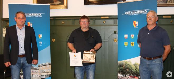 Bürgermeister Dirk Harscher, Ralf Kirste, Andreas Gaenzle